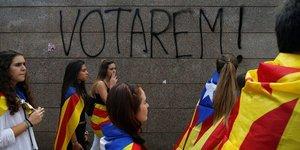Appel a la resistance pacifique lors du referendum en catalogne