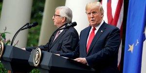 Donald Trump et Jean-Claude Juncker, à la Maison Blanche (le 25 juillet 2018)