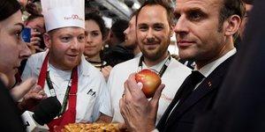Emmanuel Macron, en visite au 57Eme salon de l& 39 agriculture, le 22 fEvrier 2020 A la Porte de Versailles A Paris