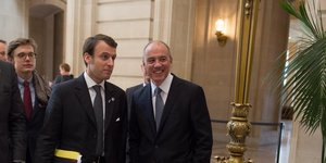Emmanuel Macron et StEphane Richard