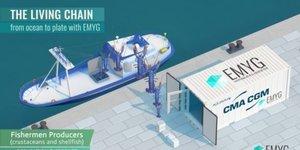 Emyg, CMA CGM, conteneurs, transport, homards vivants,