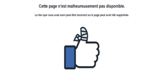 Facebook page inaccessible