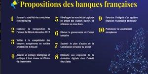 FBF propositions banques françaises