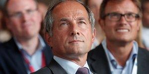 Frédéric Oudéa, le PDG de la Société Générale, à l'université d'été du Medef, le 29 août 2018