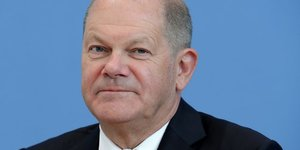 German finance minister olaf scholz attends a news conference in berlin
