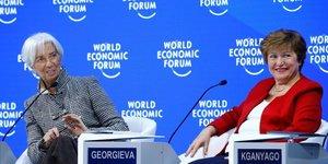 Lagarde Georgieva FMI Davos 2019