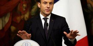 """Macron appelle a surmonter le """"malentendu"""" avec l'italie"""