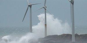 tempête Ciara, éoliennes, électricité, Boulogne-sur-Mer,