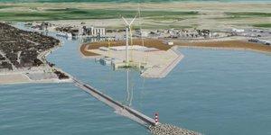 Vue d'artiste du projet d'extension portuaire